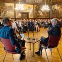 Andreas Dresen im Gespräch mit Axel Doßmann, Erfurt, 23.04.2019, Foto: Henry Sowinski