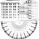 Entwurf des »Panoptikum« von Jeremy Bentham, Bild: The works of Jeremy Bentham vol. IV, 172-3 (1843; im Original 1791)