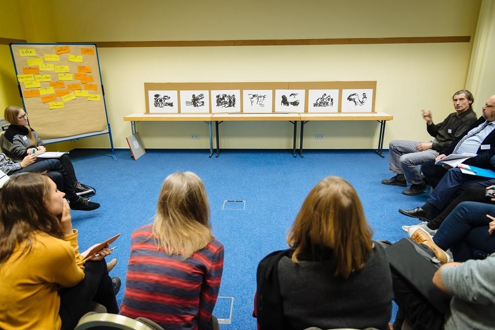 Workshop mit dem Künstler Walter Sachs, Foto: Henry Sowinski