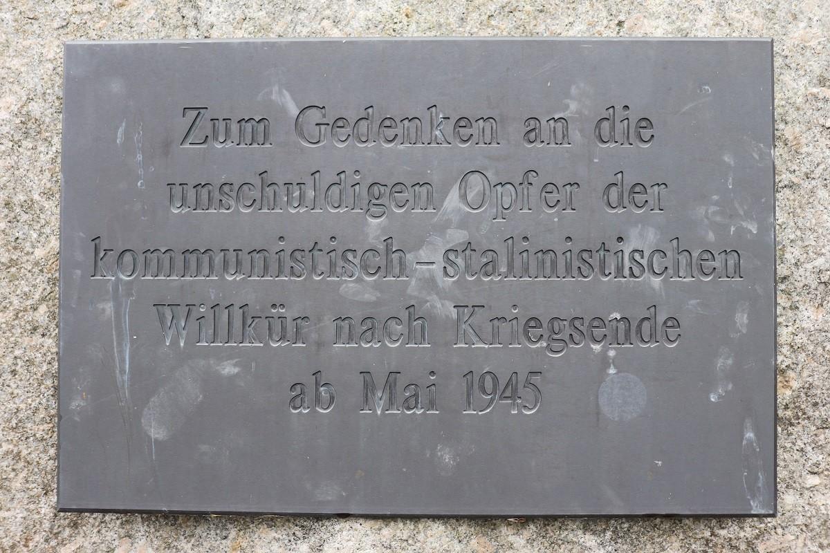 Gedenkstein am Schloss in Schwarzenberg/Erzgebirge, Oktober 2020. Foto: Franz Waurig, Sammlung Gedenkstätte Buchenwald